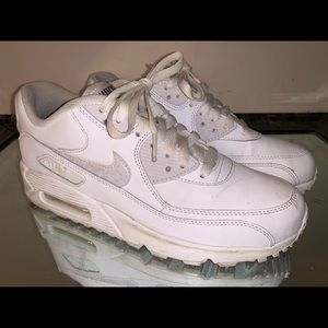 Nike Air Max 90 Triple White Women's Size 8.5